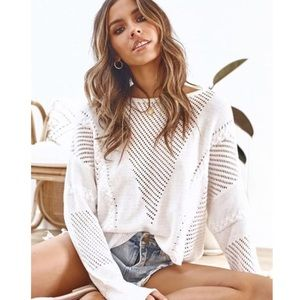 Vici Sweaters - NEW Casual White Sweater (S)